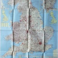 The Daily Telegraph Tourists map Great Britain 1960