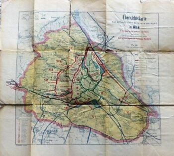 Übersichtskarte Verkehrsanlagen Wien 1892