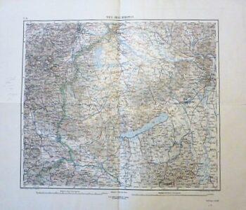 Wien Graz Budapest Balaton Landkarte old map