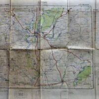 Woronesh Russland Landkarte Russia old german map