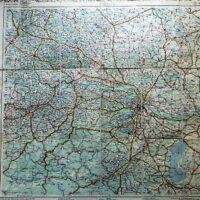 Autostrassenkarten Nieder-Österreich Austria old road map