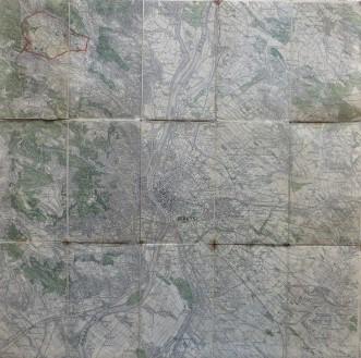 Budapest Umgebung Landkarte Ungarn Budapest old map