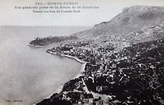 Carte Postale Monte Carlo Postkarte old postcard
