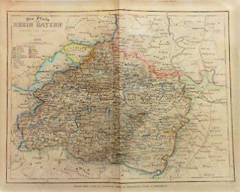 Die Pfalz oder Rhein Bayern Landkarte 1859
