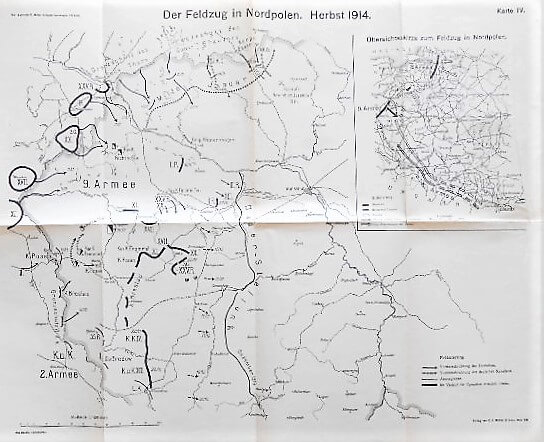 Der Feldzug in Nordpolen 1914 Militarkarte