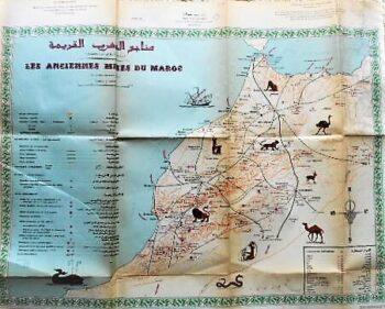 Marocco Landkarte 1975 map