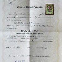 Technische Hochschule in Wien Einzelprüfungs Zeugnis 1931