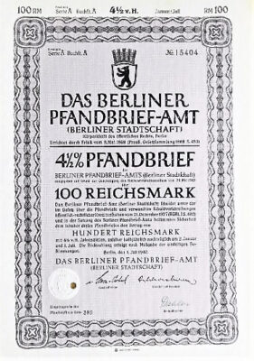 Das Berliner Pfandbrief 100 RM 1940