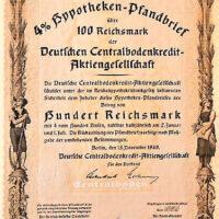 Hypotheken Pfandbrief Berlin 1940