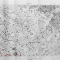 Mukachevo Ukraine Landkarte old map 1925