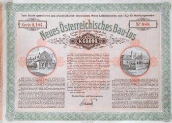 Neues Österreichisches Bau-Los Wien 1923