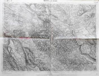 Sesana und ST. Peter Slowenien Landkarte Slovenia old map 1914