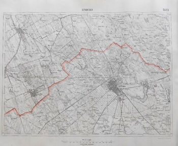 Subotica Serbien Landkarte Serbia old map 1926