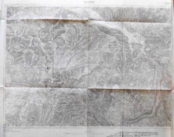 Tolmein Tolmin Slowenien Landkarte Slovenia old map 1917